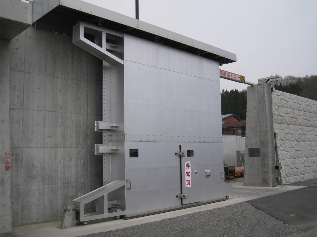 大沢漁港海岸保全ゲート(震災前)